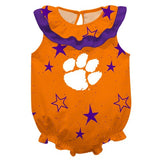 Clemson Stars Orange Girls Sleeveless Onesie