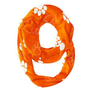 Clemson Tigers All Over Logo Orange Infinity Scarf - Vive La Fête - Online Children's Apparel
