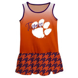 Clemson Degrade Orange Sleeveless Lily Dress