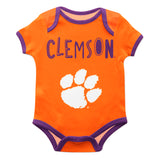 Clemson Tigers Orange Solid Short Sleeve Onesie - Vive La Fête - Online Children's Apparel