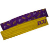 East Carolina Pirates Gold Solid And Purple Repeat Logo Headband Set