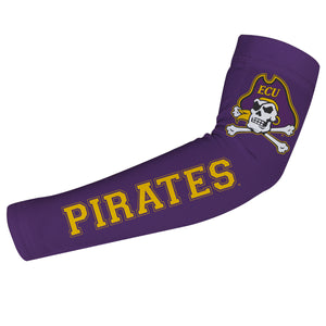 East Carolina Pirates Purple Arm Sleeves Pair
