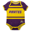 East Carolina Pirates Block Stripe Purple Short Sleeve Onesie - Vive La Fête - Online Children's Apparel