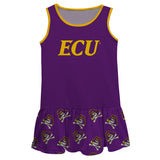 East Carolina Pirates Repeat Logo Purple Sleeveless Lily Dress