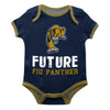 FIU Solid Blue Boys Onesie Short Sleeve - Vive La Fête - Online Children's Apparel