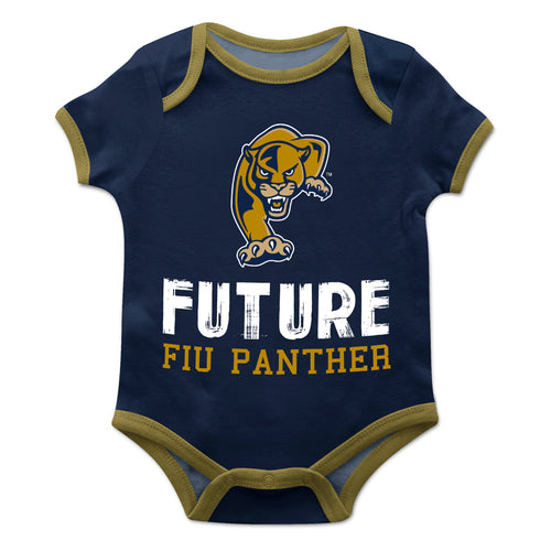 FIU Solid Blue Boys Onesie Short Sleeve