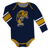 FIU Panthers Stripes Blue Long Sleeve Onesie