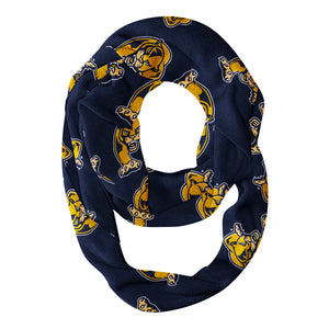 FIU Panthers All Over Logo Blue Infinity Scarf