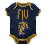 FIU Panthers Blue Solid Short Sleeve Onesie - Vive La Fête - Online Children's Apparel