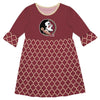 Florida State Quatrefoil Garnet Amy Dress Three Quarter