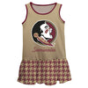 Florida State Houndstooth Gold Sleeveless Lily Dress