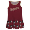 Florida State Seminoles Repeat Logo Garnet Sleeveless Lily Dress - Vive La Fête - Online Children's Apparel