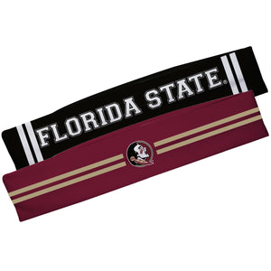 Florida State Seminoles Garnet And Black Stripes Headband Set