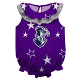 Furman Stars Purple Girls Sleeveless Onesie - Vive La Fête - Online Children's Apparel