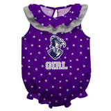 Furman Swirls Purple Girls Sleeveless Onesie - Vive La Fête - Online Children's Apparel