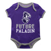 Furman Solid Purple Boys Onesie Short Sleeve - Vive La Fête - Online Children's Apparel