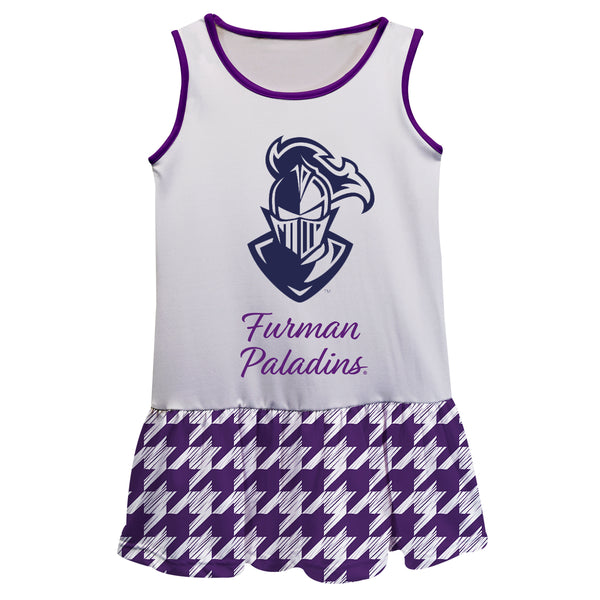 Furman Houndstooth White Sleeveless Lily Dress
