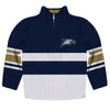 Georgia Southern Logo Stripes Blue Long Sleeve Quarter Zip Sweatshirt - Vive La Fête - Online Children's Apparel