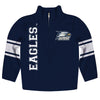 Georgia Southern Stripes Blue Long Sleeve Quarter Zip Sweatshirt - Vive La Fête - Online Children's Apparel