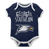 Georgia Southern Blue Solid Short Sleeve Onesie - Vive La Fête - Online Children's Apparel