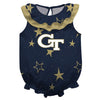 Georgia Tech Stars Blue Girls Sleeveless Onesie