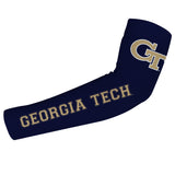 Georgia Tech Yellow Jackets Blue Arm Sleeves Pair - Vive La Fête - Online Apparel Store