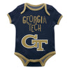 Georgia Tech Yellow Jackets Blue Solid Short Sleeve Onesie - Vive La Fête - Online Apparel Store