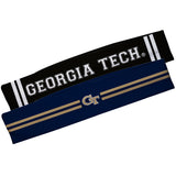 Georgia Tech Yellow Jackets Blue And Black Stripes Headband Set - Vive La Fête - Online Children's Apparel