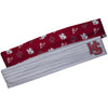 Hampden Sydney Gray Solid And Maroon Repeat Logo Headband Set