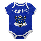 Indiana State University Blue Solid Short Sleeve Onesie - Vive La Fête - Online Children's Apparel