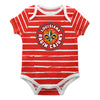 Louisiana At Lafayette Stripe Red and White Boys Onesie SS - Vive La Fête - Online Children's Apparel