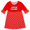 Louisiana At Lafayette Quatrefoil Red Amy Dress Three