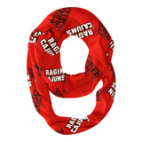 Louisiana At Lafayette All Over Logo Red Infinity Scarf
