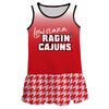 Louisiana At Lafayette Degrade Red  Sleeveless Lily Dress
