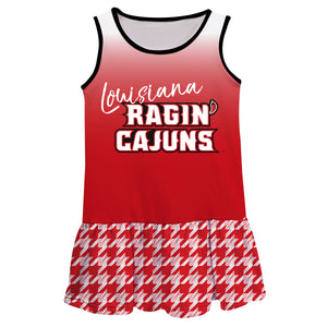 Louisiana At Lafayette Degrade Red  Sleeveless Lily Dress - Vive La Fête - Online Children's Apparel
