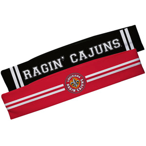 Louisiana At Lafayette Red And Black Stripes Headband Set
