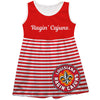 Louisiana At Lafayette Big Logo Red And White Stripes Tank Dress - Vive La Fête - Online Apparel Store