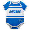 Middle Tennessee Raiders Block Stripe Blue Short Sleeve Onesie - Vive La Fête - Online Children's Apparel