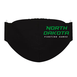 North Dakota Bisons Face Mask Solid Black