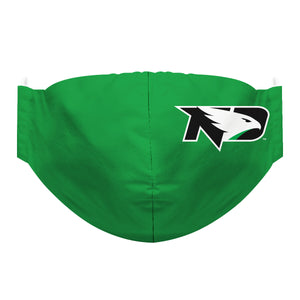 North Dakota Bisons Face Mask Solid Green