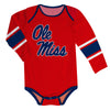 Mississippi Rebels Stripes Red Long Sleeve Onesie - Vive La Fête - Online Children's Apparel