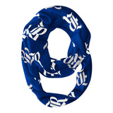 Rice Owls All Over Logo Blue Infinity Scarf