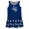 Rice Owls Repeat Logo Blue Sleeveless Lily Dress - Vive La Fête - Online Children's Apparel