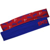 SMU Mustangs Blue Solid And Red Repeat Logo Headband Set - Vive La Fête - Online Apparel Store