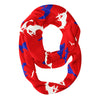 SMU Mustangs All Over Logo Red Infinity Scarf - Vive La Fête - Online Apparel Store