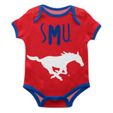 SMU Mustangs Red Solid Short Sleeve Onesie - Vive La Fête - Online Children's Apparel
