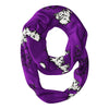 TCU Honed Frogs All Over Logo Purple Infinity Scarf