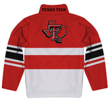 Texas Tech Logo Stripes Red Long Sleeve Quarter Zip Sweatshirt - Vive La Fête - Online Children's Apparel
