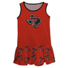 Texas Tech Repeat Logo Red Sleeveless Lily Dress - Vive La Fête - Online Children's Apparel