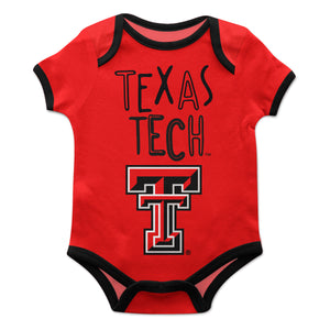 Texas Tech Red Solid Short Sleeve Onesie - Vive La Fête - Online Children's Apparel